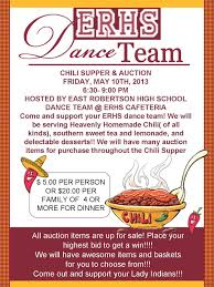 chili supper flyer erhs dance team chili supper auction