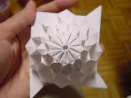 Paper Folded Flower 12 Fold 3 Layer Flower Tower Chris Palmer Top View Flickr