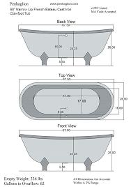 clawfoot tub sizes the vintage designer burnished cast iron french tub clawfoot bathtub sizes
