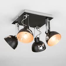 <b>Черный</b> потолочный светильник <b>спот</b> с поворотными плафонами ...