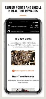 harley davidson visa card on the app