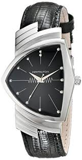 amazon com hamilton mens h24411732 ventura stainless steel watch amazon com hamilton mens h24411732 ventura stainless steel watch black leather band hamilton watches