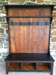 Bench And Coat Rack Combo 100 Creative DIY Pallet Project Ideas Tutorials 100 Entryway 39