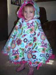 Fleece Poncho Pattern With Hood Enchanting Crafty Mommy At Home NoSew Two Layer Fleece Poncho