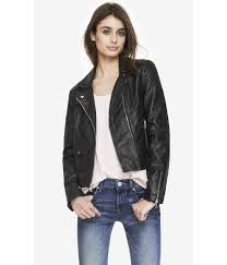 Lyst - Express (Minus The) Leather Diamond Quilted Moto Jacket in ... & Gallery Adamdwight.com