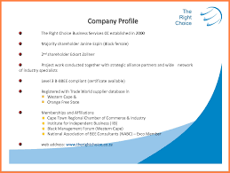 Business Profile Samples 24 Company Profile Samples Company Letterhead 11
