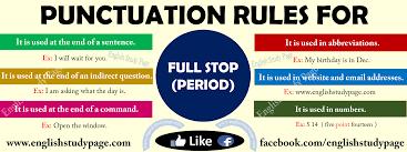 Punctuation English Under Fontanacountryinn Com