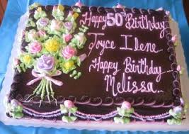 Birthday Special Occasion Cakes 1 2 Sheet Cake Fudge Sugar