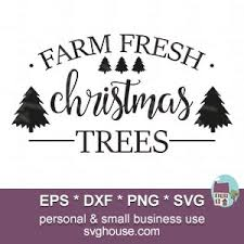Color this christmas tree with the colors of your choice. Farm Fresh Christmas Trees Svg Files For Silhouette And Cricut Machines