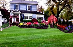 Garden Front Yard Flower Bed Designs Home Design Landscaping Ideas Garden  Design And Landscaping Ideas