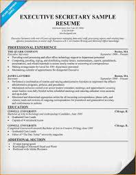 Extremely Executive Secretary Resume Terrific 12 Cover Letter For