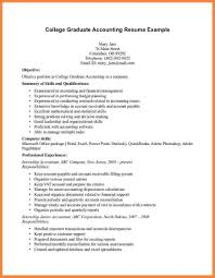 Accounting Resume Samples Resume Sample For Fresh Graduate Accounting listmachinepro 36