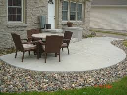 love the stone surrounding concrete patio gardening and cost