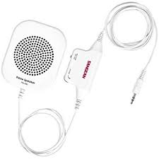 Sangean PS-300 Pillow Speaker with In-line Volume Control and Amplifier  (White