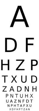 Eye Chart Test Type Snellin 3m