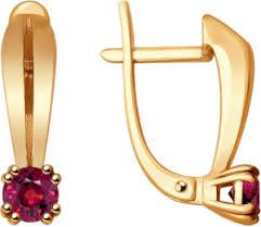 Золотые <b>серьги с</b> рубином купить в интернет-магазине AllTime.ru