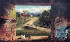 frank henry shapleigh paintings for old barn in bartlett nh