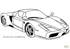 Small Picture Ferrari Enzo Car coloring page Free Printable Coloring Pages