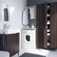 laundry room furniture. A Modern Bathroom With Integrated Laundry, Including ALGOT Drying Rack Plus LILLÅNGEN Cabinet And Washbasin Laundry Room Furniture