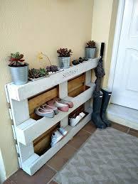 outdoor shoe storage diy shoe storage ideas using a pallet designs designs outdoor shoe rack
