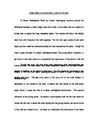 analysis a clean well lighted place by ernest hemingway a page 1 zoom in