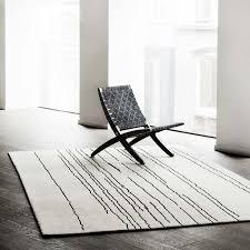 woodline rug white with black lines getalt image i