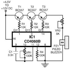 electronic horn schematic design telephone ringtone generator