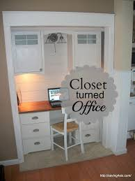 how to turn a closet into an office space