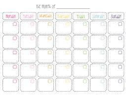 Cute Printable Monthly Calendar Printable Blank Calendar