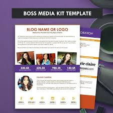 Boss Media Kit Template Ad Rate Sheet Press Pitch Blog Sponsorship 2 ...