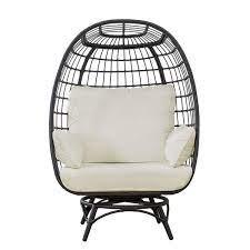 sunjoy bonnie swivel patio egg chair