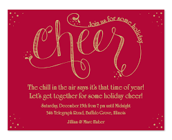 Holiday Party Invitation Wording Holiday Cheer