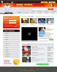 website template video download video gallery website templates video website template