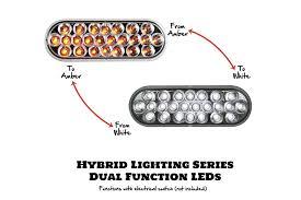 6 Oval White Led Lights 6 Oval Multi Function Led Light With 12 24v Miamistar Com