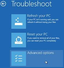 windows 8 advanced startup troubleshoot advanced options