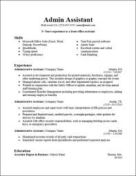 Resume Templates Administrative Assistant Entry Level Administrative Assistant Resume Template