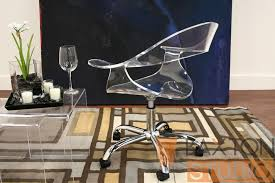 acrylic office chair. image of cleardeskchairblackbase acrylic office chair h