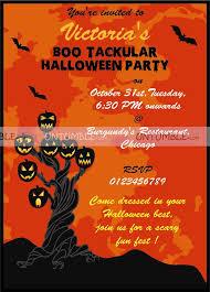 Halloween Decor Theme Party Invite