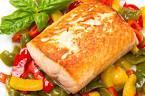 Запеченная рыба сощами диетическое блюдо