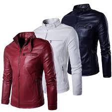 senarai harga grey brown black navy burdy red white spring leather jacket men plus size 5xl soft pu mandarin collar zipper up design terkini di malaysia
