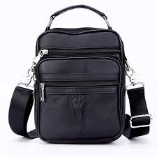 Men Small <b>Genuine Leather</b> Briefcase Male Leather Travel Totes ...