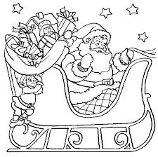 Easy Pre K Christmas Coloring Pages Santa Happy New Year Of