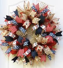 patriotic wreaths for front doorPatriotic Wreath 4th of July Wreath Burlap Patriotic Wreath