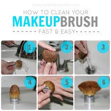 clean makeup brush