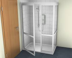 contour half cubicle shower enclosure option 7 full height fixed panel full height single door