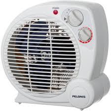 fan heater. pelonis 1,500-watt fan compact personal electric portable heater with thermostat m