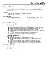 Nurse Aide Resume Resume Sample For Sample Of Resume Nursing Aide
