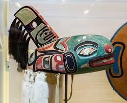 A replica of an original Tlingit, an Alaskan Native American tribe, Killer  Whale hat
