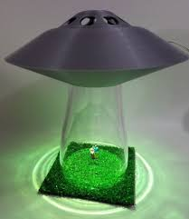 Ufo Lamp Alien Cow Abduction Outer Silver Space Saucer Light Farm