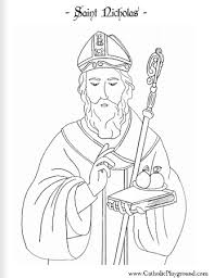 Small Picture Saint Nicholas coloring page December 6th Catholic Playground
